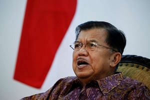 Indonesia's Vice-President Jusuf Kalla speaks during an interview with Reuters in Jakarta on June 20, 2016.