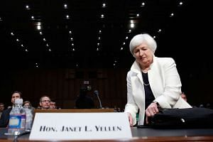 US Federal Reserve Board Chairwoman Janet Yellen arrives for testimony before the Senate Banking, Housing and Urban Affairs Committee on June 21, 2016 in Washington, DC.