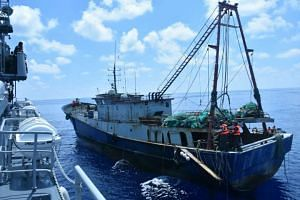 The presence of Chinese fishing boats poaching in the Natunas is a ruse by Beijing to stake its claims in the South China Sea, the naval commander of Indonesia's Western Fleet has said.