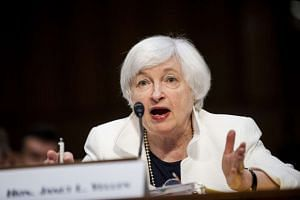 Janet Yellen, chairman of the US Federal Reserve testifying before a Senate committee on June 21, 2016.