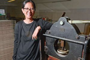 Lina Adam, a print technician at Lasalle College of the Arts, trained under master printer Kenneth Tyler.