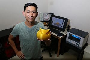 Mr Kong sells 3D-printed household items such as coasters, aromatherapy reed diffusers and decorative owl figurines.