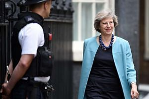 Theresa May arrives for a cabinet meeting at Downing Street in London, on June 27, 2016.