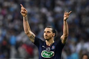Ibrahimovic (above) says he is joining Manchester United, ending intense speculation about where the 34-year-old Swedish superstar will be playing next season.