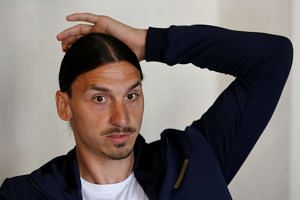 Ibrahimovic (above) was a free agent after ending a hugely successful stay at Paris Saint-Germain.