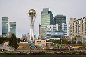 Baiterek, an observation tower in Astana, the capital of Kazakhstan, resembles a tree with a golden egg nestled at the top. The country is constantly reinventing itself and hopes to launch a financial centre to reel in US$40 billion (S$54 billion) by