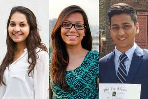 Students (from left) Tarishi Jain, Abinta Kabir and Faraaz Hossain were among the 20 civilians killed in the Bangladesh terror attack.