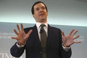 British finance minister George Osborne speaks at The Times CEO summit in London.