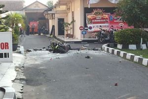 The attacker was killed at the scene of the attempted attack in Surakarta, Indonesia.