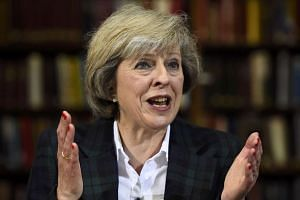 Britain's Home Secretary Theresa May attends a press conference in London, June 30, 2016.