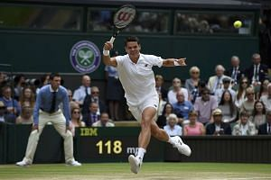 Canada's Milos Raonic stunned the crowd by beating Switzerland's Roger Federer in their Wimbledon match.