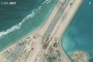The Subi Reef runway is seen in this picture from the Centre for Strategic and International Studies (CSIS) Asia Maritime Transparency Initiative on Jan 8, 2016.