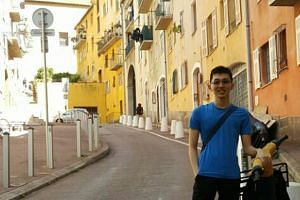 Mr Esmond Chuah, 22, a Malaysian student from the Singapore University of Technology and Design, was injured in a terror attack in Nice on July 14, 2016.