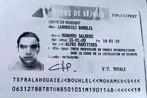Mohamed Lahouaiej Bouhlel in an identification photo said to have been released by the French government.