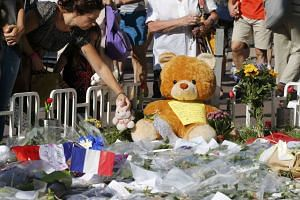 A tribute to victims two days after the attack on Nice, France on July 16, 2016.