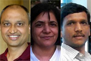 (From left) Prof Kambadur, Dr Sharma and Dr Lokireddy.