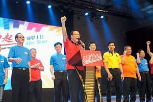 Malaysian Transport Minister Liow Tiong Lai speaking at an event in Alor Setar.