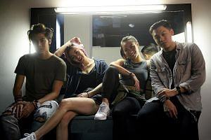 (From far left) Benjamin and Narelle Kheng, Sandra Riley Tang and Jonathan Chua of The Sam Willows will be performing at The Coliseum on Friday.