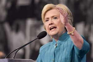 US Democratic presidential candidate Hillary Clinton in Las Vegas on July 19.