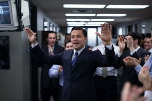 A still from the movie The Wolf Of Wall Street, staring Leonardo DiCaprio and made by Red Granite Pictures.