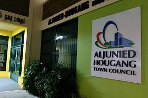 The Aljunied-Hougang Town Council office at Blk 701, Hougang Avenue 2.