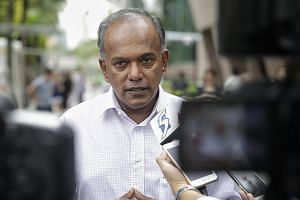 """Mr Shanmugam (top) criticised AHTC chairman Pritam Singh (above) """"for suppressing the truth (designed to mislead) both in Parliament and in Court""""."""