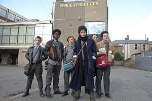 Matt Damon returns as superspy Jason Bourne; and actor Ferdia Walsh-Peelo (above, fourth from left) stars in Sing Street.