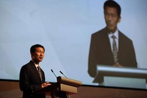 Mr Ong Ye Kung, Acting Minister for Education (Higher Education and Skills) and Senior Minister of State, Ministry of Defence, addressing the audience at the ITE Graduation 2016 ceremony on July 22.