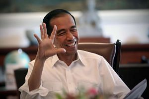 Indonesian President Joko Widodo during an interview in his office at Bogor Palace in Jakarta.