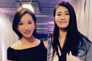 Model Chiling Lin (left) and Chinese Victoria's Secret model Sui He.