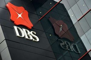 The DBS logo on DBS Asia Hub at 2 Changi Business Park Crescent.