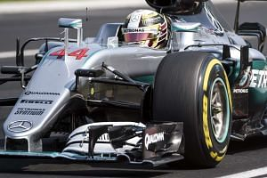 British driver Lewis Hamilton in action during the Hungarian grand prix on July 24, 2016.
