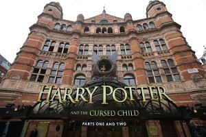 The entrance to the Palace Theatre is seen ahead of the premiere of the Harry Potter and the Cursed Child stage play in London on July 30, 2016.