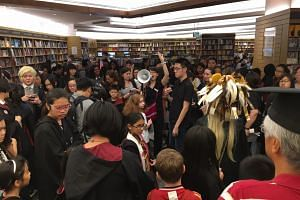 During the launch of Harry Potter and the Cursed Child at Kinokuniya, Ngee Ann City on July 31.