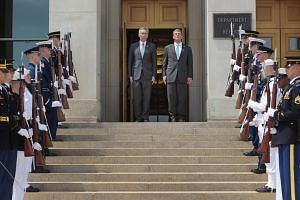 Singapore PM Lee Hsien Loong was hosted August 1 by US Secretary of Defense, Ashton Carter, at the Pentagon where he was received with an enhanced honour cordon comprising servicemen and women from all five armed services.