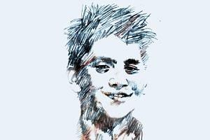 A portrait illustration of Singapore swimmer, Joseph Schooling.