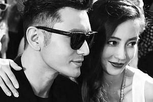 Huang Xiaoming and Angelababy tied the knot last year after dating for six years.