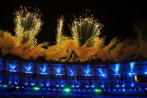 Fireworks illuminate the sky over the Maracana Stadium during the Opening Ceremony of the Rio 2016 Olympic Games in Rio de Janeiro, Brazil, August 5.