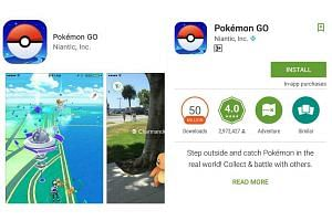 Smash hit Pokemon Go is finally available for play in Singapore. PHOTO: SCREENSHOT FROM APP STORE, GOOGLE PLAY