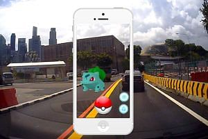 Players hunting for Pokemon have been urged by the police not to do so while driving or riding any personal mobility device, and to be aware of their surroundings and not walk out onto roads without looking.