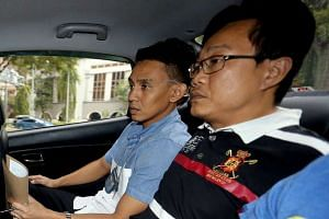 Ho Yueh Keong (right) was on Monday (Aug 8) convicted of harbouring fugitive Tan Chor Jin after he shot dead a nightclub owner in 2006.
