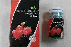 Weight-loss pill, Figure Up, which contained banned ingredients.