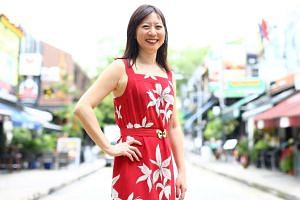 New York-based writer Cheryl Lu-lien Tan (above) checked out Singapore's nightlife scene for her debut novel, Sarong Party Girls.