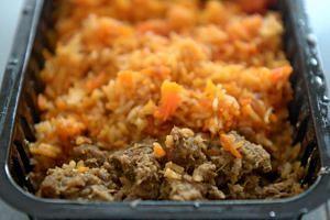 Mutton Rendang With Briyani Rice.