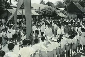 Former president Yusof Ishak in Bukit Timah in 1961.