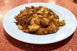 The combination of garlic, chye poh and pieces of pork add punch to the dish.