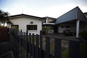 The house Mr Chris Au listed as his dwelling in one of his filings with the court. When lawyers from WongPartnership served court documents on Mr Au on Aug 12, they were sent via e-mail and Facebook.