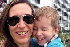 Mrs Graffart with her son, Keryan. She said she would have to spend $6,100 on Keryan's last rites.