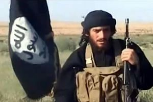 An image from a 2012 YouTube video of Abu Mohamed al-Adnani, a founding member of ISIS and its chief spokesman and propagandist. He was killed in Aleppo, Syria, on Tuesday.
