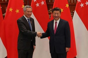 Prime Minister Lee Hsien Loong (left) met with Chinese President Xi Jinping in Hangzhou on Friday (Sept 2) on the sidelines of the G20 Summit.